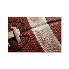 Close up of a Football Rectangle Magnet