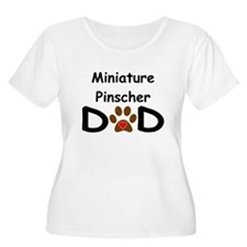 Miniature Pinscher Dad Plus Size T-Shirt