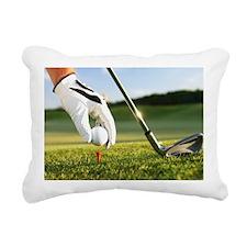 Placing the ball. Rectangular Canvas Pillow