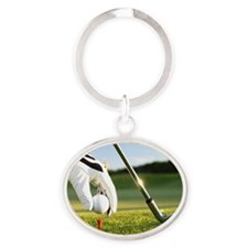 Placing the ball. Oval Keychain