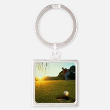 Hole in One Square Keychain
