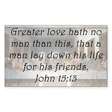 John 15:13 Decal