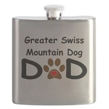 Greater Swiss Mountain Dog Dad Flask