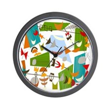 Atomic Funky Best C Clear Wall Clock