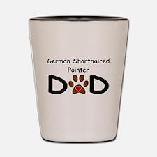 German Shorthaired Pointer Dad Shot Glass