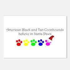 Amer. Black&Tan Coonhounds Believe Postcards (Pack