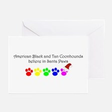 Amer. Black&Tan Coonhounds Believe Greeting Cards