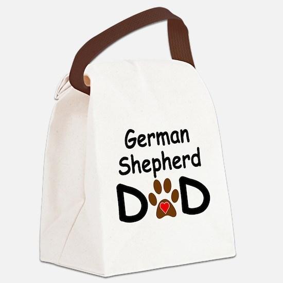 German Shepherd Dad Canvas Lunch Bag
