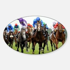 Front View of Horse Racing Decal