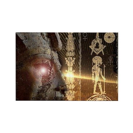 ancient egyptian mason Rectangle Magnet