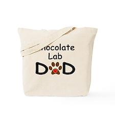 Chocolate Lab Dad Tote Bag