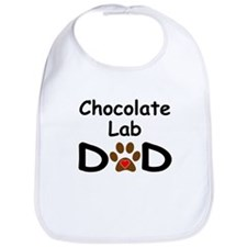 Chocolate Lab Dad Bib
