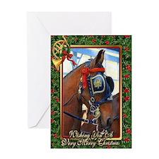 Cleveland Bay Horse Christmas Greeting Card