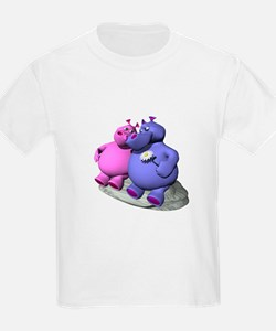 Hippos in Love Kids T-Shirt