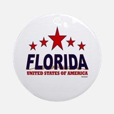 Florida U.S.A. Ornament (Round)