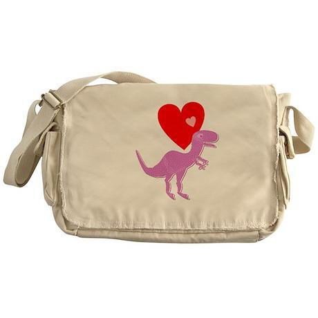 Cute Cartoon Dinosaur Pink Purple T-Rex Love Heart