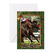 Thoroughbred Racehorse Christmas Greeting Cards (P