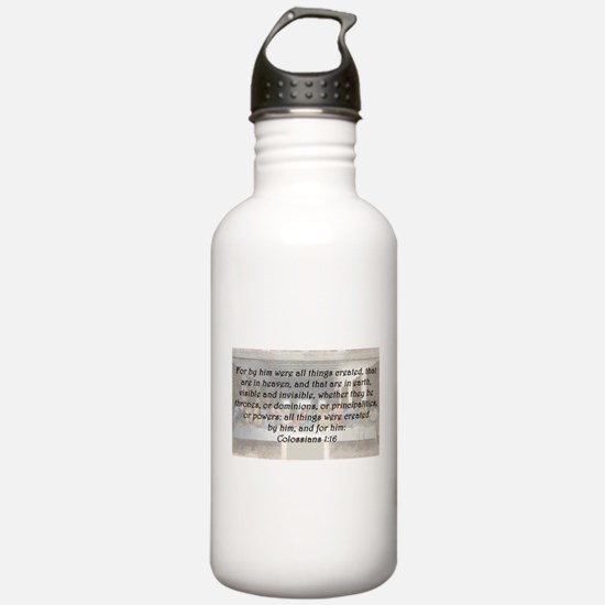 Colossians 1:16 Water Bottle