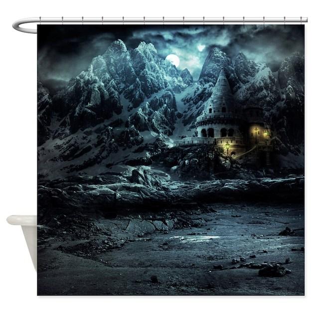 Gothic Landscape Shower Curtain By Showercurtainshop