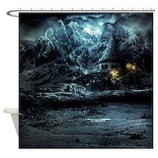 Gothic Landscape Shower Curtain