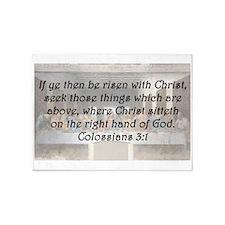 Colossians 3:1 5'x7'Area Rug