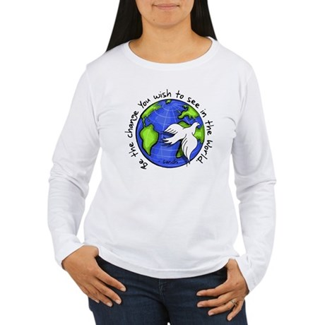 World Peace Gandhi - Funky Stroke Long Sleeve T-Sh