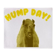 Hump Day Camel Throw Blanket