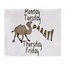 Hump Day Camel Weekdays Throw Blanket