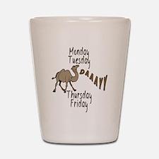 Hump Day Camel Weekdays Shot Glass