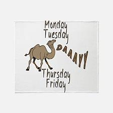 Hump Day Camel Weekdays Throw Blanket
