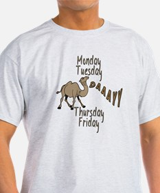 Hump Day Camel Weekdays T-Shirt