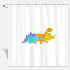 Cute Cartoon Dinosaurs Shower Curtain