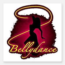 "Bellydance Square Car Magnet 3"" x 3"""