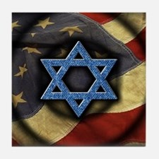 Jewish American Tile Coaster