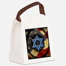 Jewish American Canvas Lunch Bag