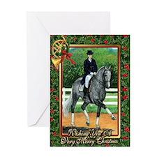 Swedish Warmblood Dressage Christmas Greeting Card