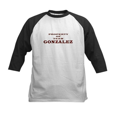 Property of Team Gonzalez Kids Baseball Jersey