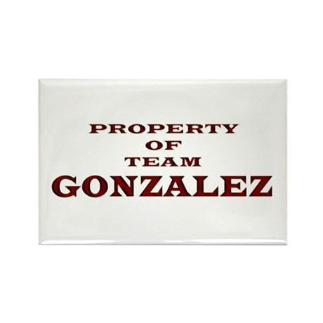 Property of Team Gonzalez Rectangle Magnet (10 pac