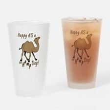 Happy AS A a Camel on Hump Day Drinking Glass