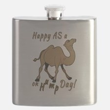 Happy AS A a Camel on Hump Day Flask