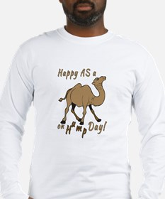 Happy AS A a Camel on Hump Day Long Sleeve T-Shirt