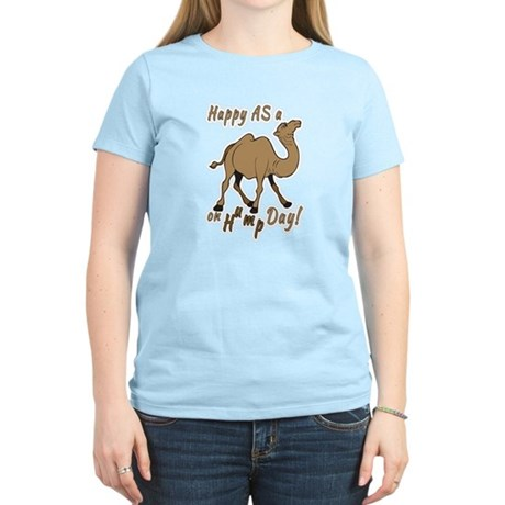 Happy AS A a Camel on Hump Day Women's Light T-Shi