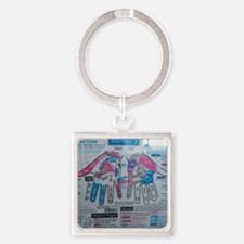 Palmistry Square Keychain