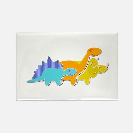 Cute Cartoon Dinosaurs Rectangle Magnet