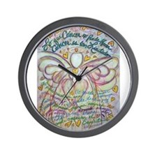 Spanish What Cancer Cannot Do Angel Wall Clock