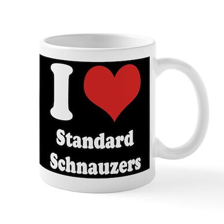 I Heart Standard Schnauzers Mug