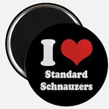 I Heart Standard Schnauzers Magnet