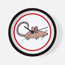 Cute Rat Wall Clock