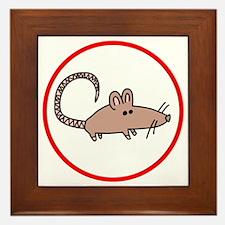 Cute Rat Framed Tile