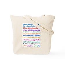 Up Late OT Top 10 Tote Bag